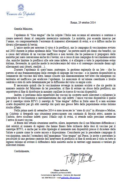 Lettera a Martina_bluetongue