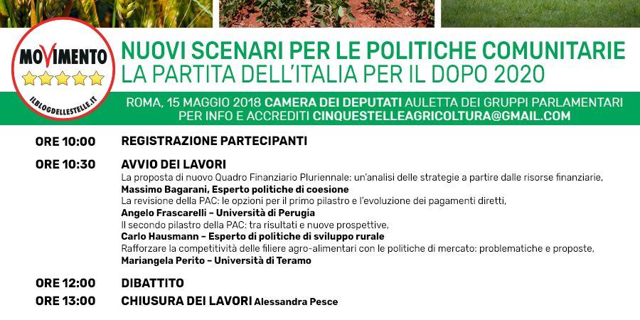 Convegno M5S: nuovi scenari per le politiche comunitarie: la partita dell'Italia per il dopo 2020 - m5stelle.com - notizie m5s